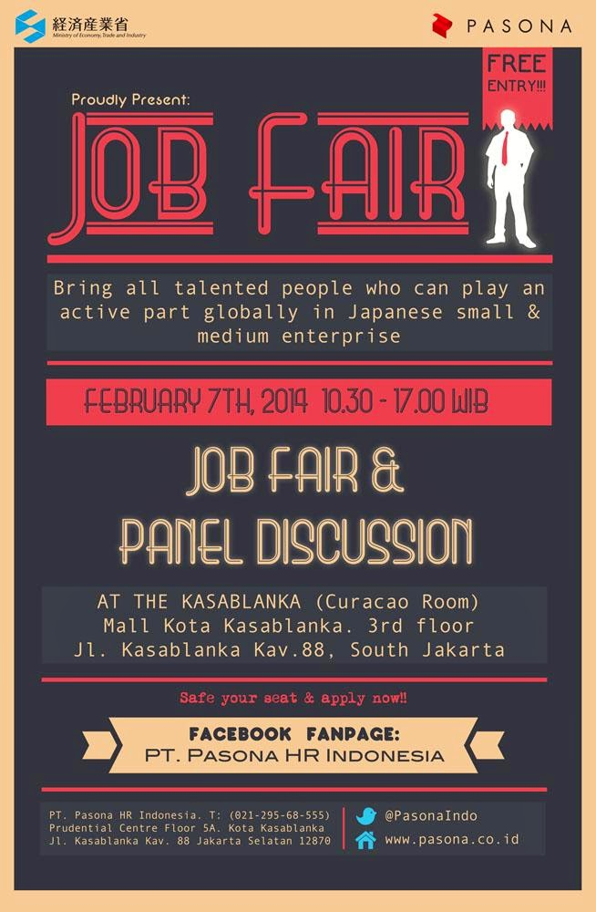 JOB FAIR & PANEL DISCUSSION MALL KASABLANKA JAKARTA