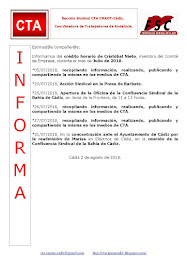 C.T.A. INFORMA CRÉDITO HORARIO CRISTOBAL NIETO, JULIO 2018