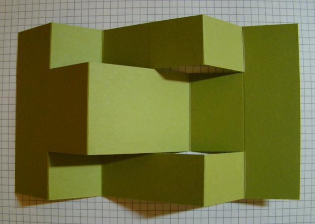 tri fold shutter card instructions