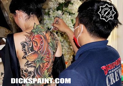 Biody Painting Koi Fish Fullback jakarta