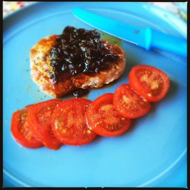 Pork Chops with a Spicy Honey Chipotle Sauce, yum! The Graffitied Gardenia