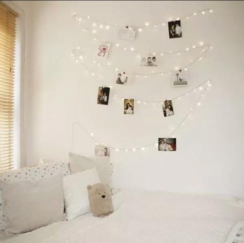 Mural de luzes com foto