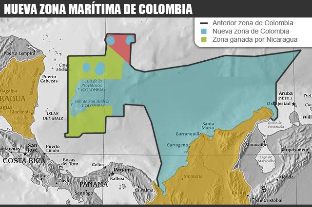 Colombia pierde mar, nuevo mapa fronterizo de colombia, frontera con nicaragua