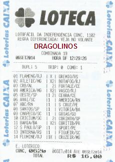 LOTECA 620 - DRAGOLINOS DO FLORENÇA