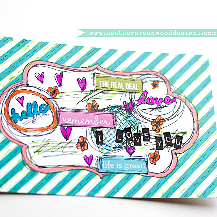 Heather Greenwood | mixed media tutorial: altering pre-made journal cards