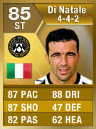 Antonio Di Natalie 85 - FIFA 13 Ultimate Team Card - FUT 13