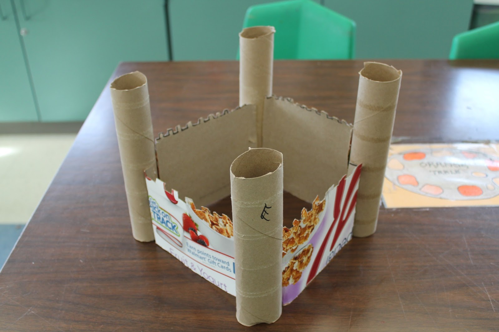 Art room 104 in progress 3rd grade cardboard castle for What to make out of cereal boxes