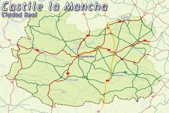 Ciudad real mapa de la regi n espa a mapa de la ciudad - Plano de ciudad real ...