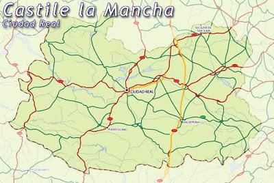Ciudad Real Mapa de la Región