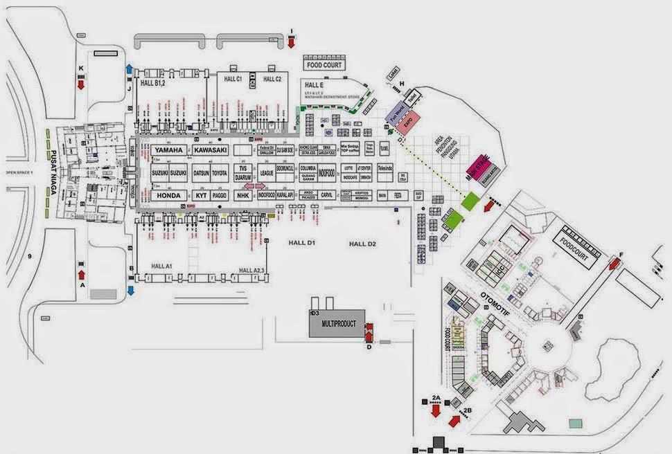 Map Area Jakarta Fair Kemayoran 2014