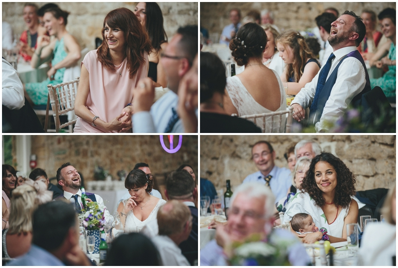 Wedding speeches at the Tithe Barn, Dorset