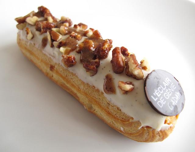 Eclair de Génie - Christophe Adam - Eclair vanille de Madagascar et noix de pécan caramélisées