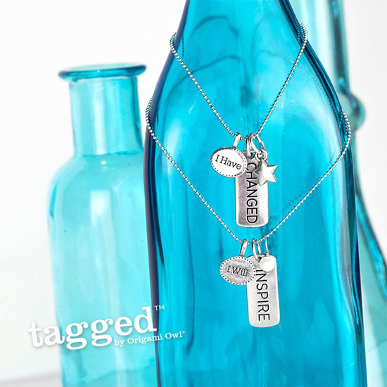 I Will Inspire Tagged Necklace by Origami Owl from StoriedCharms.com