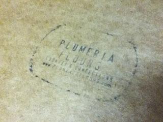 Plumeria Flours Box Lid