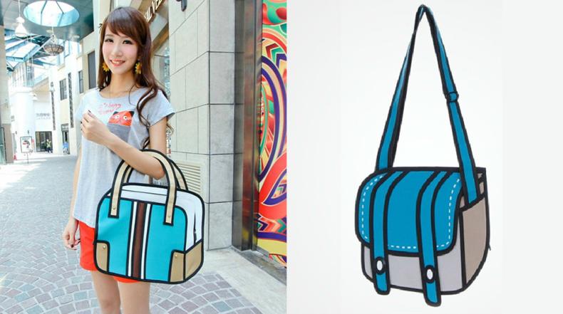 Divertidos bolsos de mano de la vida real tienen aspecto de caricaturas