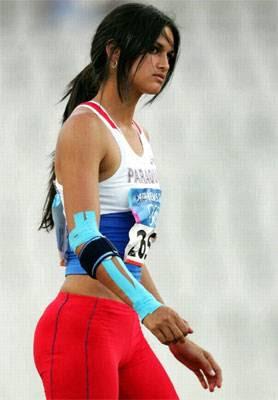 Leryn Franco compitiendo olimpiadas