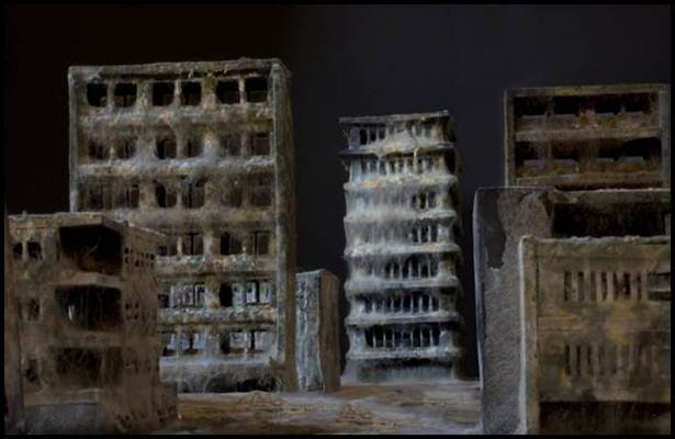 bandar miniatur kesan hari kiamat yang gagal oleh daniele del nero