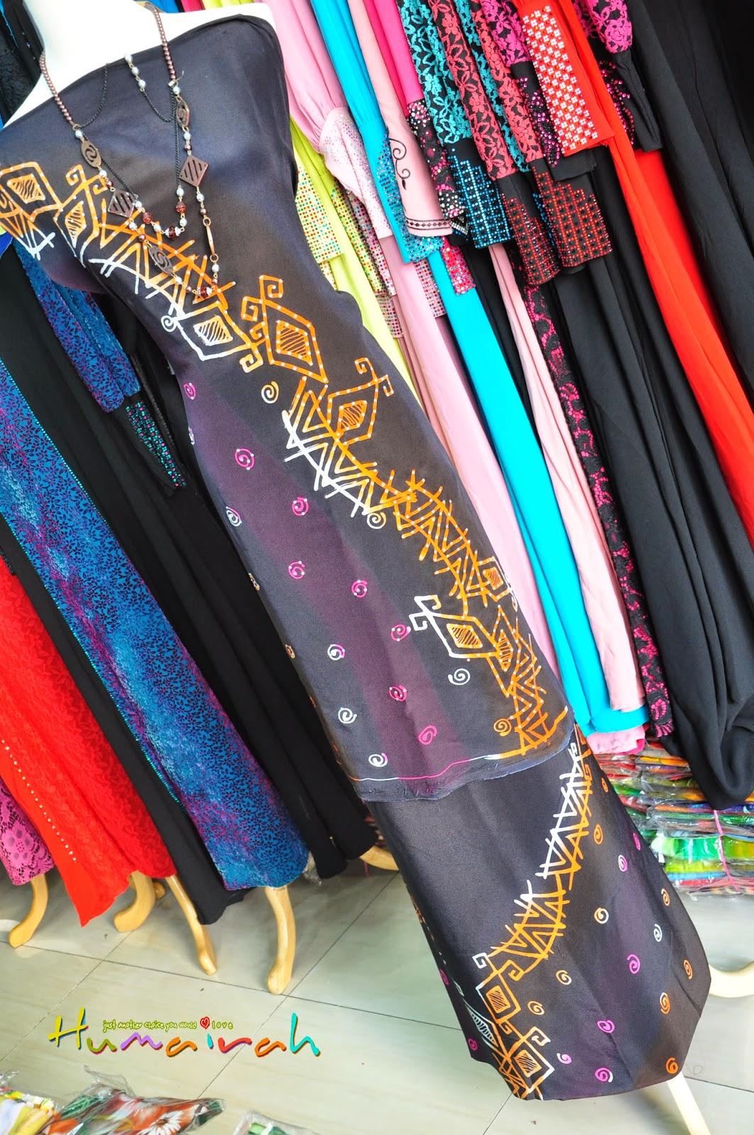 Batik Sutera Handmade Abstrack Hitam Siap Batu 2