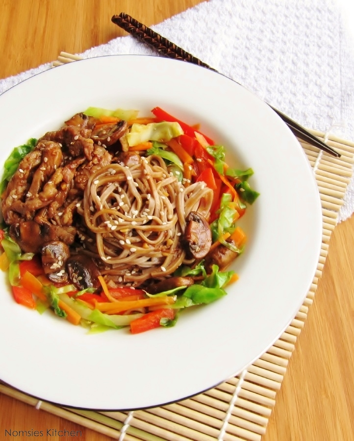 Recipe soba noodles pork