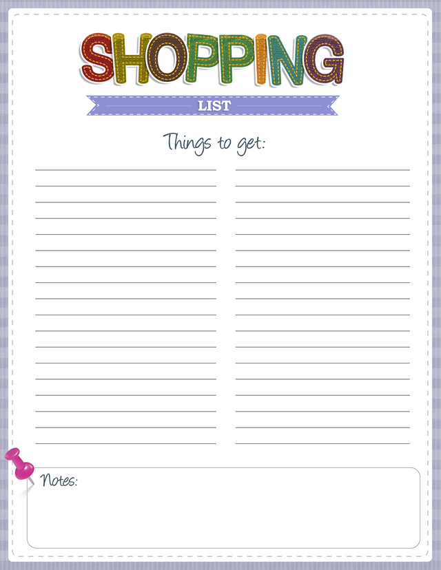 blank shopping list - deodeatts.tk