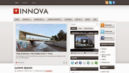 Innova - Free Blogger Template