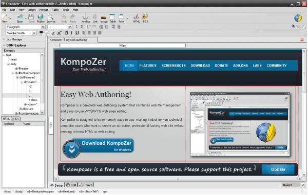 Kompozer - Web Authoring!