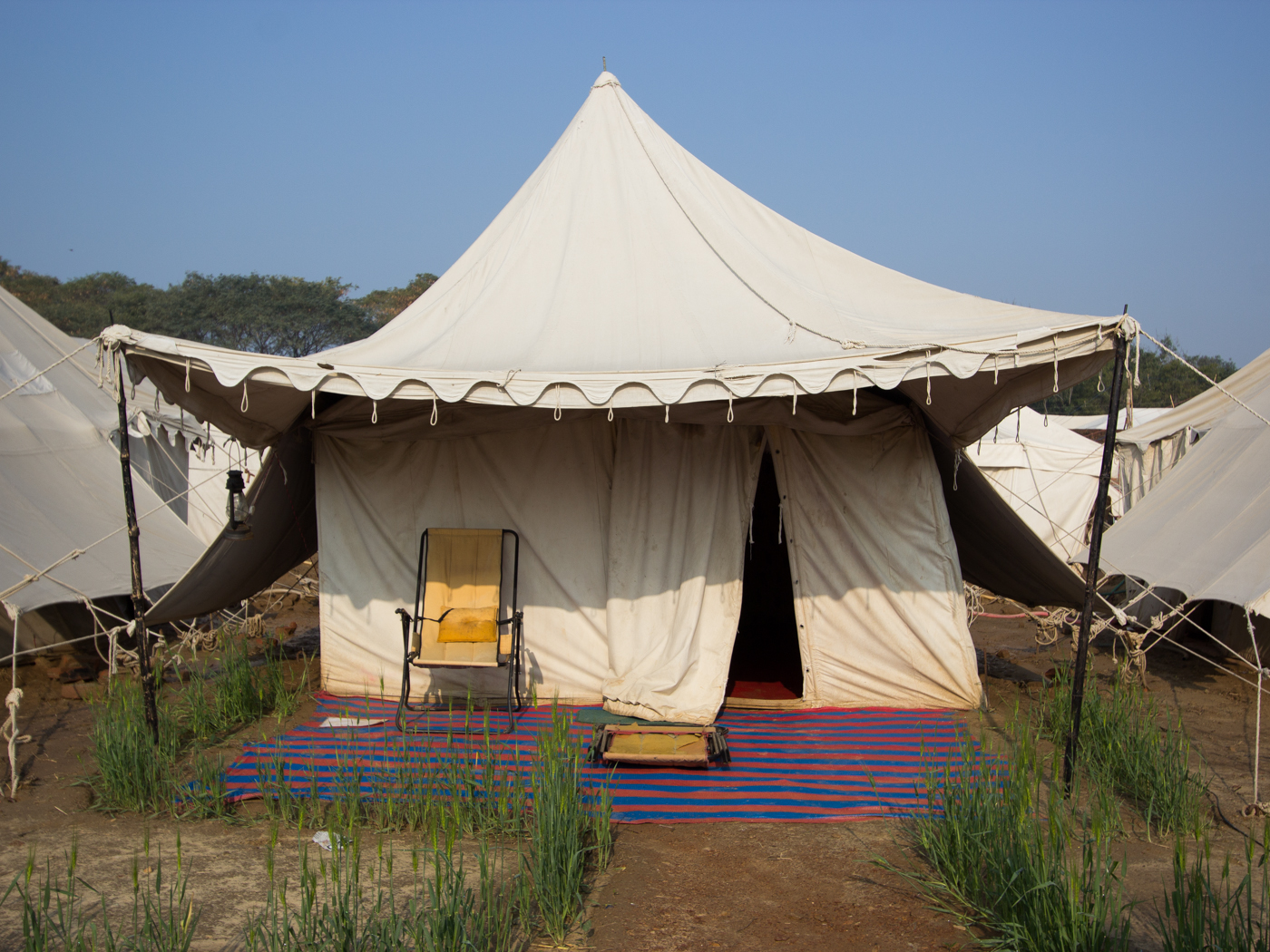 And then the rains came collapsing many of the tents and turning the place into foreclosure-land as contents suddenly were dragged into the open. & Hello Talalay: Camping At The Kumbh