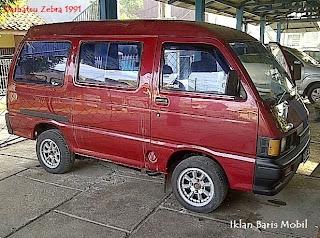 Iklan baris mobil, Dijual - Daihatsu Zebra 1991 merah marun