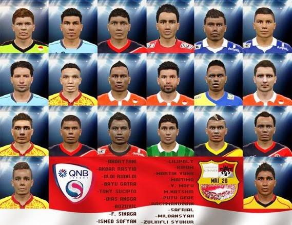 Liga QNB Facepack Terbaru untuk PES 2015