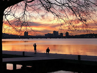 Charles River, Boston, sunset, photograph