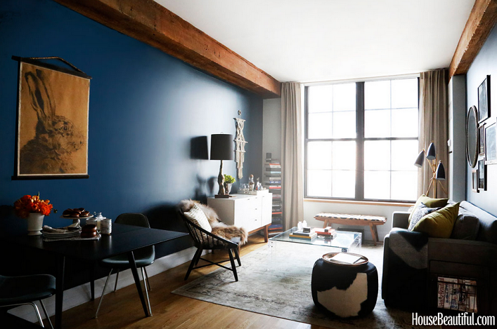 check out this 700 square foot eclectic apartment in brooklyn below