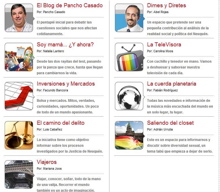 Apuntes de Periodismo Digital: Blogs de Neuquén que relatan el ...