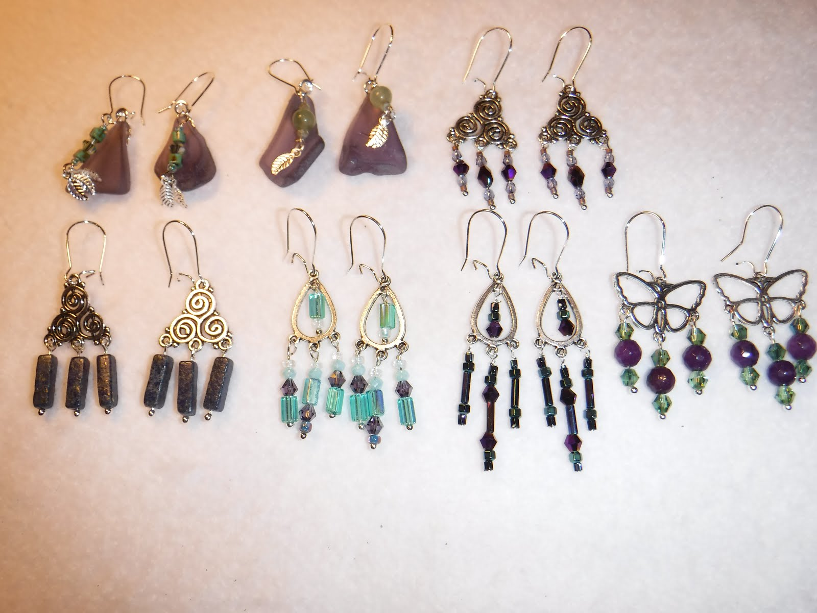 Sea glass and Boho earrings