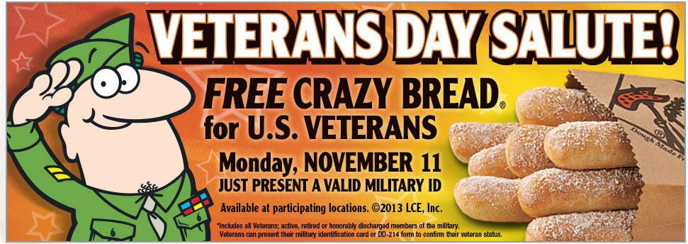 Veterans Day 2013 Deals And Freebies List