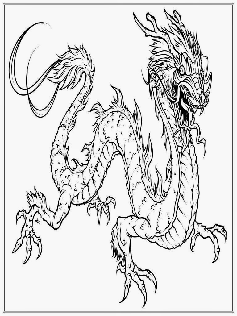 It is an image of Vibrant Dragon Coloring Book