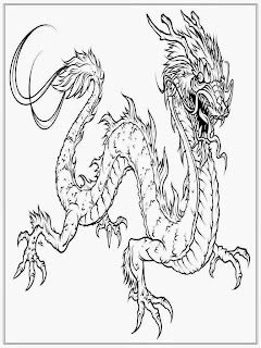 Free Printable Dragon Coloring Sheet For Adult