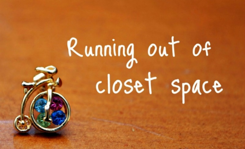 Running out of closet space
