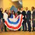 Estudiantes del Colegio Mayor Guadalupe en Madrid conmemoran el 170º Aniversario de la Independencia Nacional de la República Dominicana.