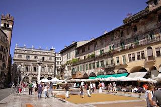 La Piazza delle Erbe in Verona