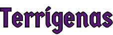 Terrígenas