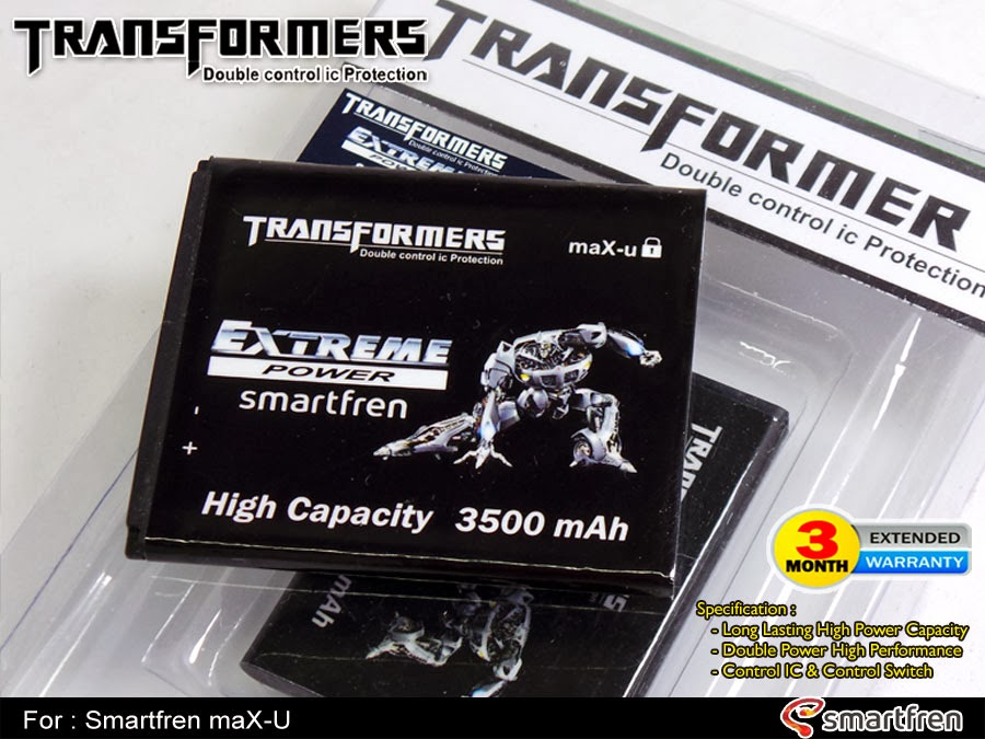 Baterai Double Power AndroMax Transformer