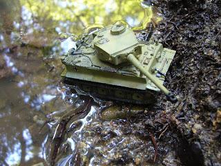 carro de combate en miniatura Tiger I
