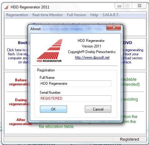 Fix And Repair Bad Sectors With HDD Regenerator - A Help