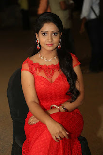 Aishwarya Addala in a Tight Transparent Red Gown at ee cinema superhit movie music launch