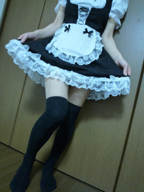 Filthy Japanese wife's maid cosplay sex photos leaked (10pix)