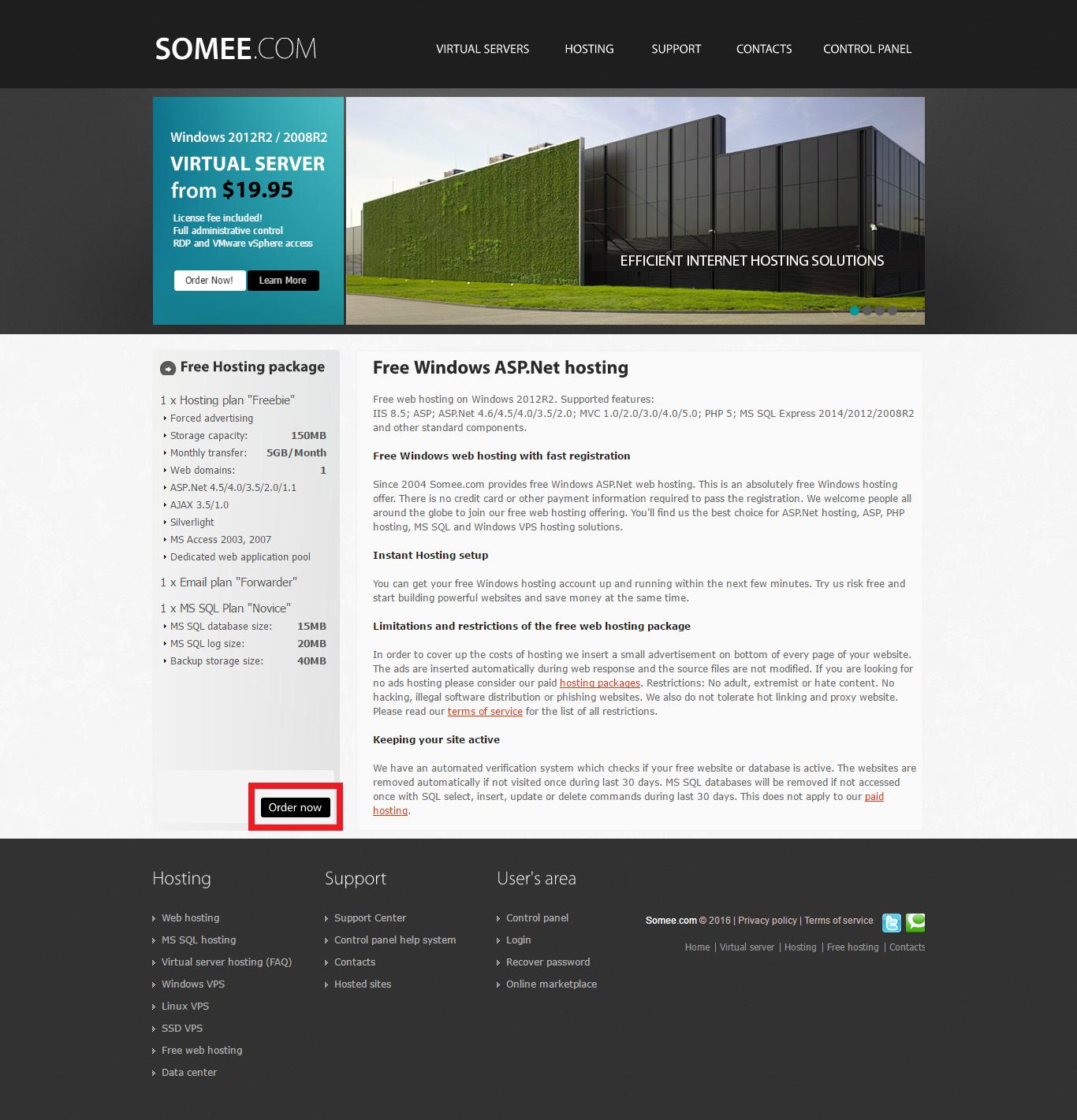 Asp web hosting