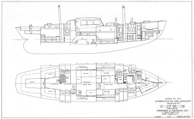 Accommodations and Cabin Layout (Courtesy Sparkman & Stephens)