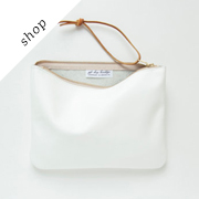 JANE Clutch in Ceramic White | GiftShopBrooklyn