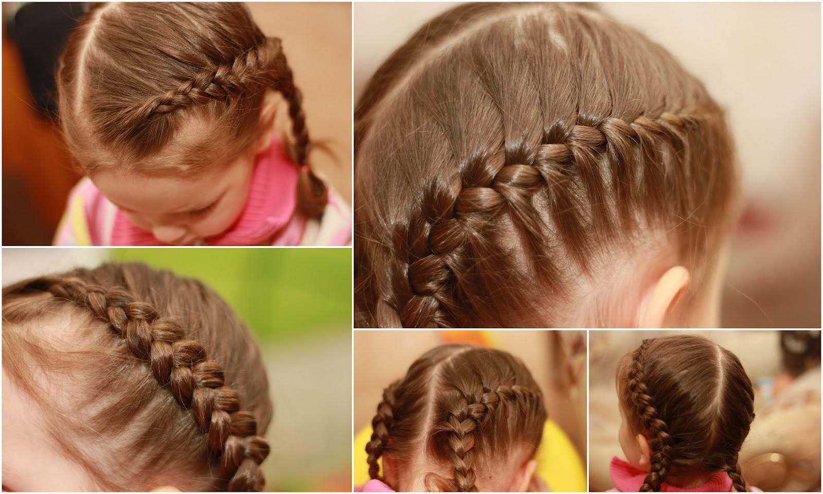 Детские косы пошагово фото