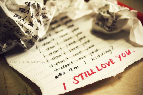 Eu aiinda te amoo # !